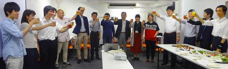 7,8月誕生日の社員をお祝いしました